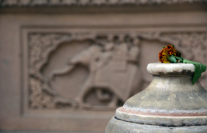 цвете в храм, предложено на Бога